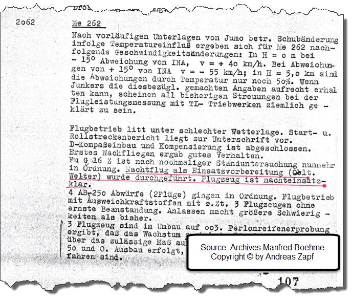 1944-11-25 - Wochenbericht Rechlin